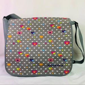Dickies Messenger Bag Gray With Hearts School Work